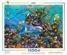 CEACO 1500 SERIES JIGSAW PUZZLE DOLPHIN PARADISE JOHN ENRIGHT 1500 PCS #3401-17