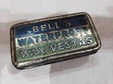 VINTAGE BELLS WATERPROOF WAX VESTAS TIN / MATCH SAFE / CASE