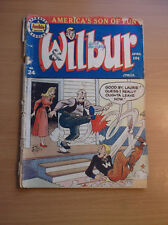 ARCHIE MAGAZINE: WILBUR COMICS #24, RARE GOLDEN AGE COMIC, 1949, GD/VG (3.0)!!!