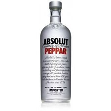 Absolut PEPPAR VODKA 1 Litre Absolute-ly EMPTY BOTTLE PEPPER CHILLY