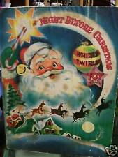Vintage 1952 The Night Before Christmas By William Martin Paper Toy Santa Cda