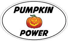 Pumpkin POWER FORMA OVALE Adesivo Vinile-Halloween a tema - 16 cm x 9 cm