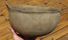 LARGE INDIAN POT-PAINTED SCALLOPED HANDLE ARKANSAS POTTERY-EX. DR BURKE