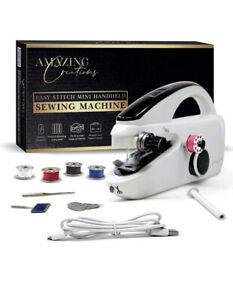 Amazing Creations Portable Handheld Sewing Machine - White