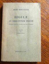 Philosophie Descartes REGULAE AD DIRECTIONEM INGENII - Bilingue latin / français