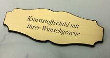 kleines TÜRSCHILD Haustürschild messing- 70x26mm selbstklebend- mit WUNSCHGRAVUR