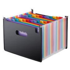 Expanding File Folder 24 Pockets, black Accordion A4 folder B8B5
