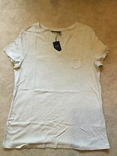 **BNWT** MARKS AND SPENCER T SHIRT TOP ~ COTTON RICH ~ GREY ~ SIZE 18 ~ £12.50