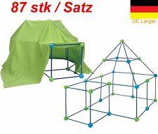 Kinder Bau Fort Spielzeug bauen Bauklötze Schloss DIY Mädchen Jungen Geschenk DE