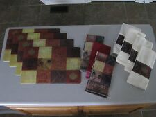 Inspirational 4 Placemats 7 Towel Set / Fall Autumn or All Yr  / 11 Piece / NEW