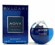 Bvlgari Aqva Atlantiqve Men Mini 0.17 oz 15 ml Eau De Toilette Dab-On Splash Nib