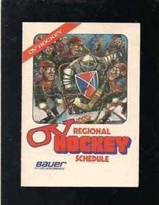 HOCKEY 1988 ONTARIO OV REGIONAL POCKET SCHEDULE