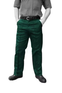 WORK TROUSERS / DRIVERS - British made WORKWEAR  - SPRUCE GREEN - TR35