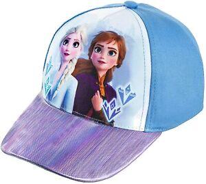 Disney Frozen 2 Anna Elsa Girls Baseball Cap Hat Kids Toy Gift Age Blue Adjust