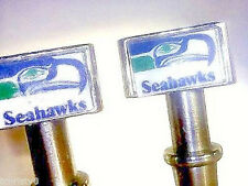 2- Seattle Seahawks Quality Metal Cribbage Pegs USA FREE With Black Velvet Bag _