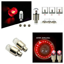 2x Red LED Moto Bicycle Car Tyre Tire Valve Dust Caps Neon Light For Motor Trike