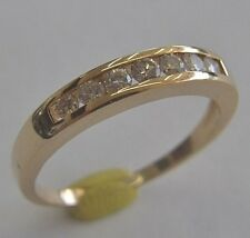 14K YELLOW GOLD DIAMOND ENGAGEMENT/WEDDING RING SIZE 7.5