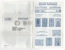 1980 NEW HEBRIDES Cover PHILATELIC BULLETIN Port Paye to Wollaston Stourbrige GB