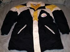 Pittsburgh Steelers NFL Spirit By Cliff Engle Full Zip Puffy Jacket Adult  Large cdac9d660