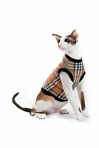 Kotomoda cat's Sweater brown cage fleece sphynx cat clothes cat t-shirt