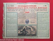 Lotterielos ÖSTERREICHISCHES ROTES KREUZ LOS vom Jahre 1916 um 1956 (  F12055