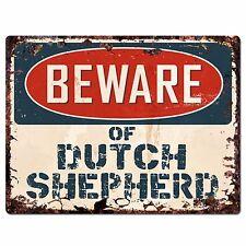 PPDG0017 Beware of DUTCH SHEPHERD Plate Rustic Chic Sign Decor Gift