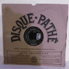 78T SAPHIR 29cm Disque MARCELLY Phonograph LA FEMME AUX BIJOUX Chanté PATHE 3467