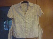 REBAJAS Cortefiel camisa bordada calada talla M l 42 44  mujer, beige preciosa