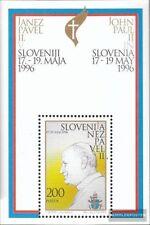 Eslovenia Bloque 2 (completa.edición.) nuevo con goma original 1996 Papa Juan Pa