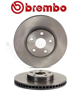 Brembo Pair Set of 2 Front Coated Brake Disc Rotors For Pontiac Scion Toyota
