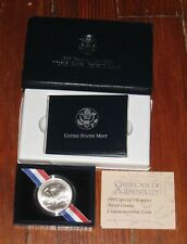 1995-W Special Olympics Commemorative Silver Dollar with Box and Coa