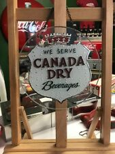"CANADA DRY Soda Etched Reverse Glass Advertising Sign ""Watch Video"""