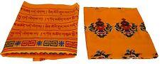 Extra Large Silk Blend 8 Auspicious Symbols & Prayers Khata's Comes in 4 colors