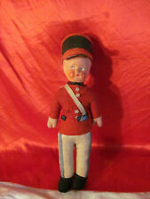 Vintage Cloth & Celluloid Canadian Mountie Police Doll