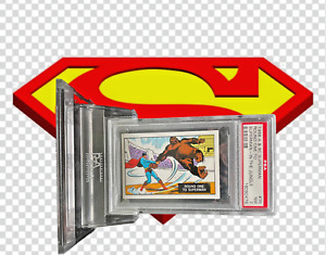 1968 A&BC Superman in the Jungle ROUND ONE TO SUPERMAN #35 N MINT 7 - garno PSA