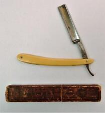 Vintage Tuckmar Solingen Straight Razor & Orig. Case Clink Cutter Etched Blade