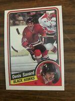 1984-85 Topps  #35 Denis Savard Chicago Black Hawks NrMt