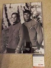 Star Trek Leonard Nimoy William Shatner Dual Signed Autograph 11x14 Psa