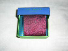 Ted Baker London Paisley Black/Burgandy Tie   NEW In Box Retails $95.00