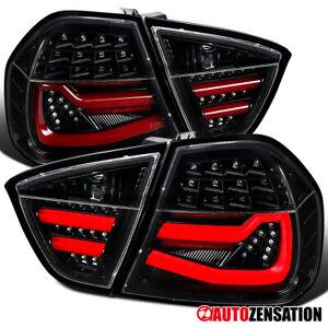 For 2005-2008 BMW 3-Series E90 325i 328i Slick Black LED DRL Tail Lights 06 07