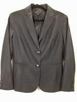Jones New York Womens Dark Gray Wool Blazer Jacket Size 12 - NWOT