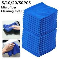 50PCS Large Blue Microfibre Cleaning Auto Car Detailing Soft Cloths Wash Towel