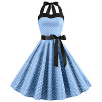 50s 60s retro Rockabilly Pinup Housewife Party Swing Women's Vintage Dress