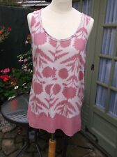 LOVELY LADIES TOP  BY WHITE STUFF SIZE 12 PINK/CREAM GOOD CONDITION