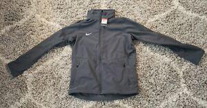 New Nike Men's Large L Sphere Hybrid Jacket 658084-060 Dark Grey Gray Hooded