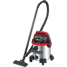 Aurora Tools Industrial Wet/Dry Stainless Steel Vacuum, 8 US Gal. W Accessories