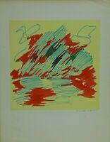 GIULIO TURCATO Litografia originale Bolaffi arte numerata firmata Opera Stampa