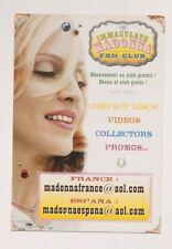 Madonna Fan Club France Espana Card Flyer