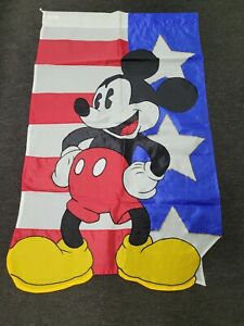 Mickey Mouse Walt Disney Large Banner Flag Summer July 4th Stars and Stripes