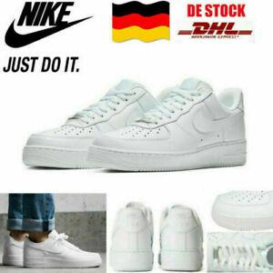 AIR FORCE 1 '07 Weiß Sneaker Herren Sportschuhe Leder Turnschuhe EU36-44